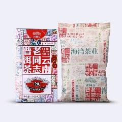 老同志普洱茶熟茶散茶2019年云南老同志普洱茶特級料100g盒裝