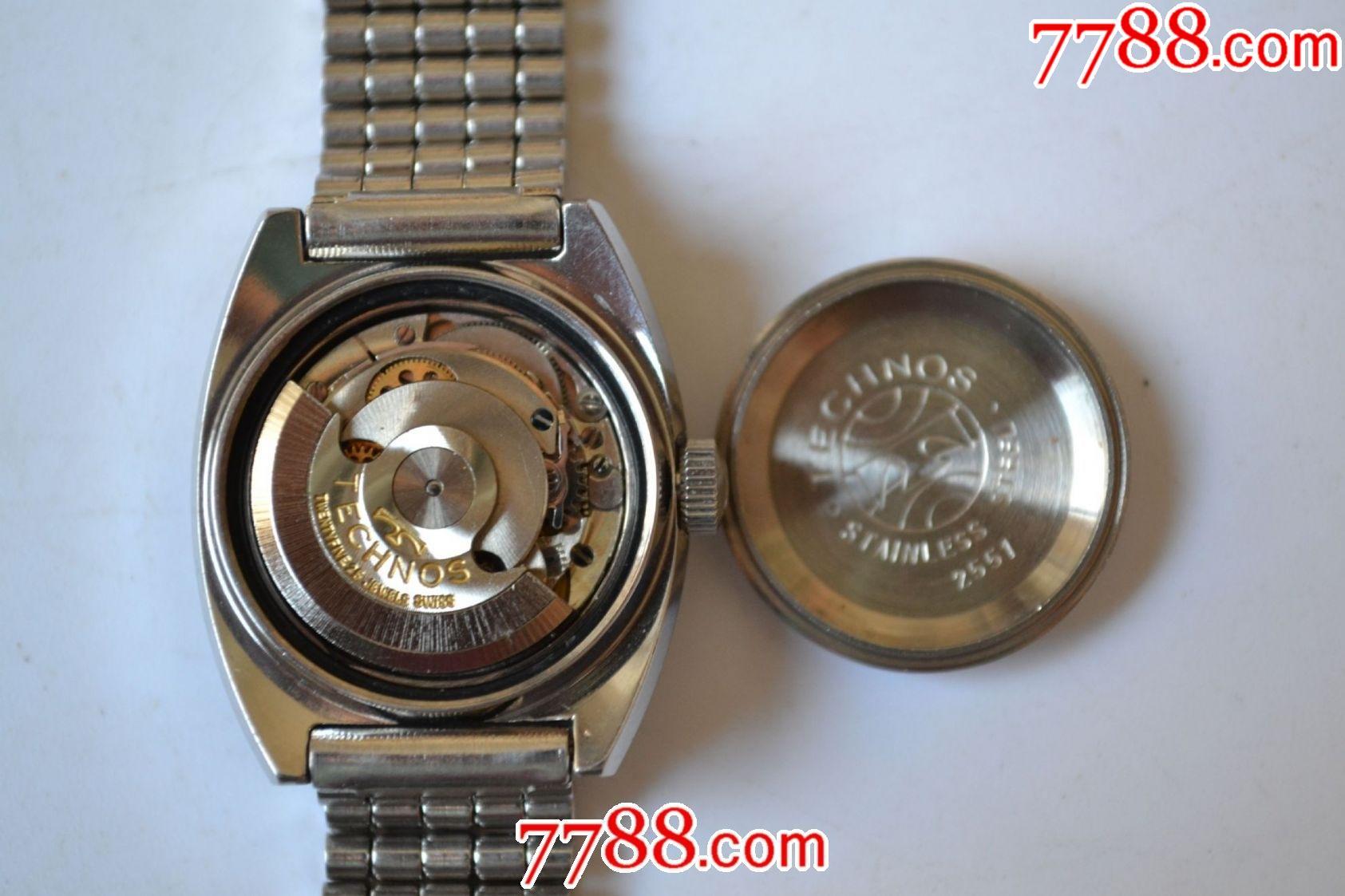 美品瑞士產天克諾牌全自動機械女表(銀肚臍后蓋、eta2551機芯)_價格269元_第16張_