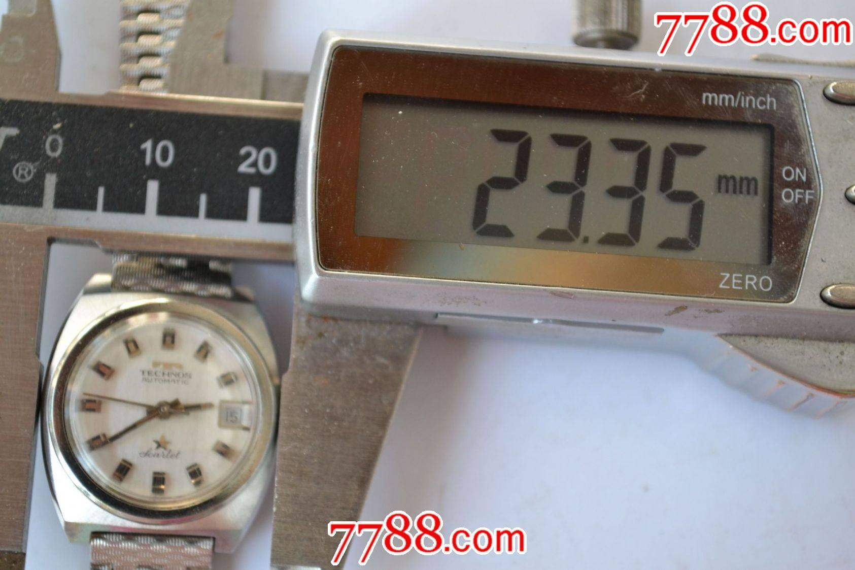 美品瑞士產天克諾牌全自動機械女表(銀肚臍后蓋、eta2551機芯)_價格269元_第23張_