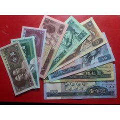 小四套人民幣小全套尾4同號原票12張,品如圖帶豪華冊