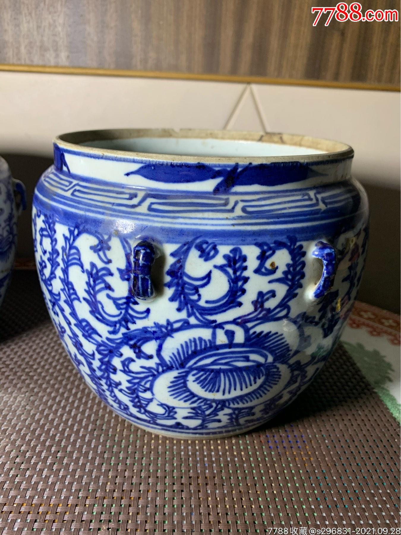 民国青花花卉罐一对_价格1240元_第3张_