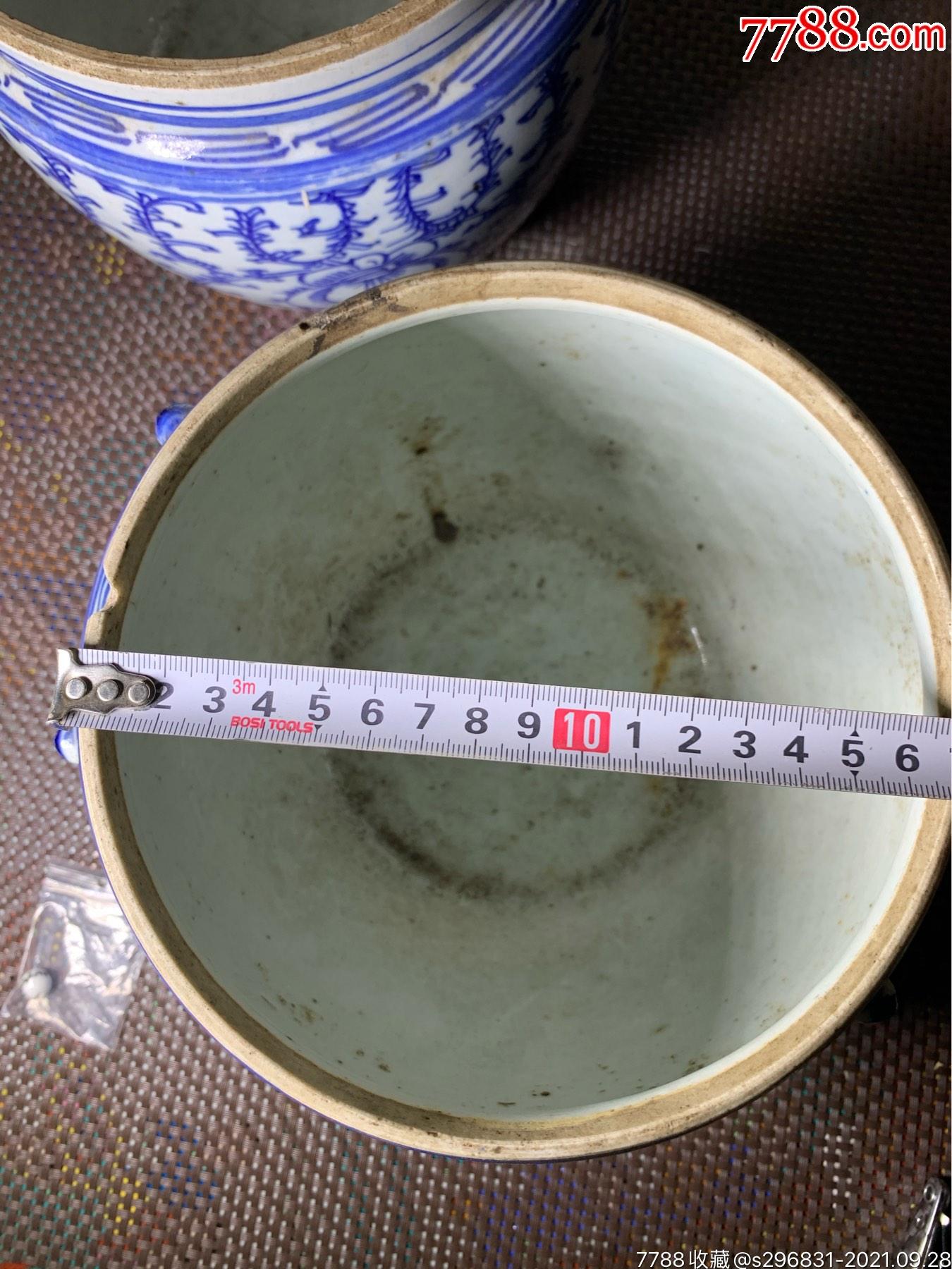 民国青花花卉罐一对_价格1240元_第21张_