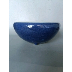 精品清中期霁蓝釉大香炉