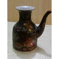 民国花卉酒壶
