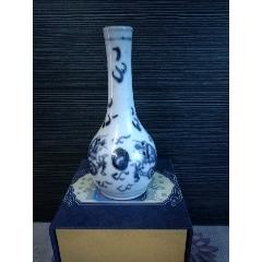 清嘉,道青花龙纹胆瓶(小天球瓶)-¥817 元_青花瓷_7788网